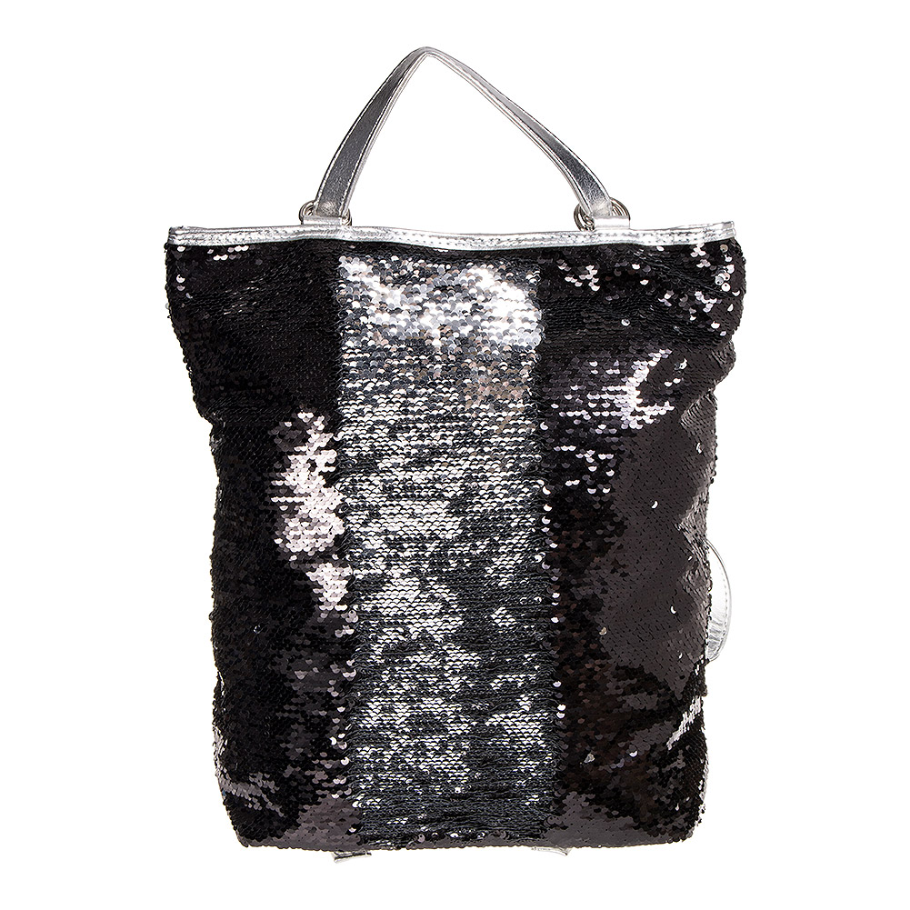 Blue Banana Two Way Sequin Backpack (Black)