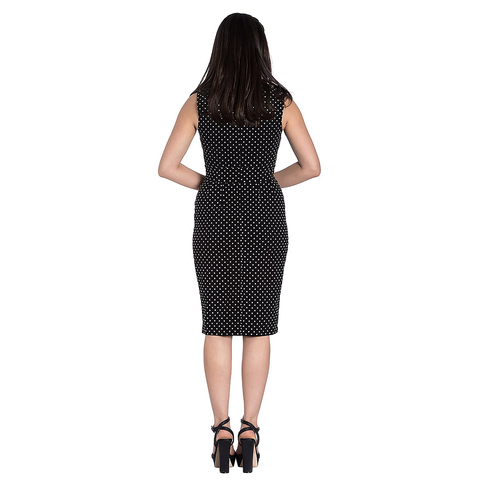 Hell Bunny Miley Pencil Dress (Black/White)