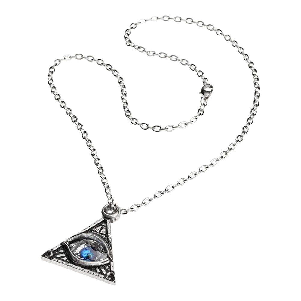 Alchemy Gothic Eye Of Providence Collier (Argent/Bleu)