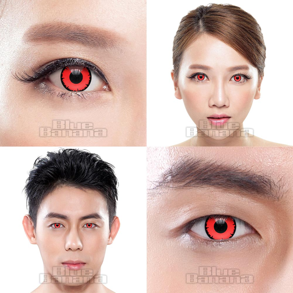 Angelic Vampire 90 Day Coloured Prescription Contact Lenses (Red)
