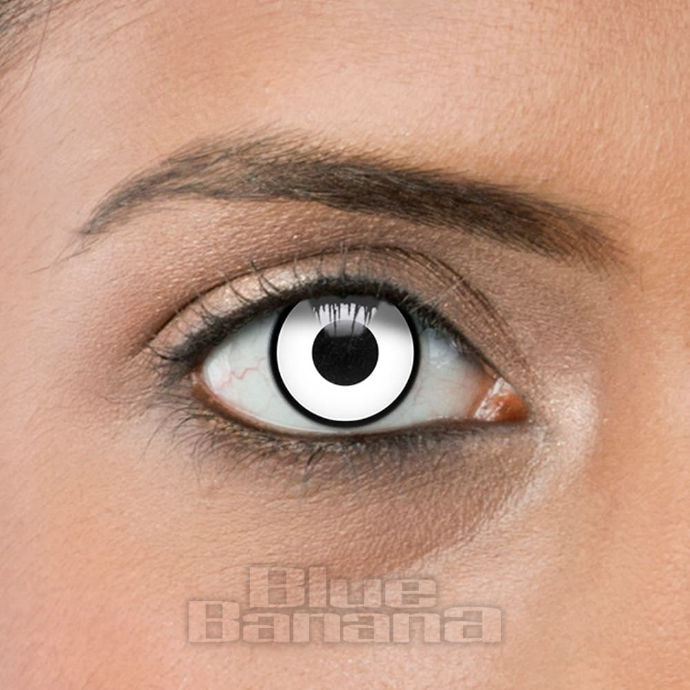 Manson Halloween 90 Day Coloured Prescription Contact Lenses (White)