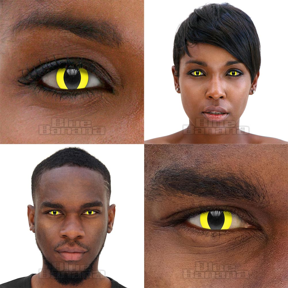 Cat 90 Day Coloured Prescription Contact Lenses (Yellow)