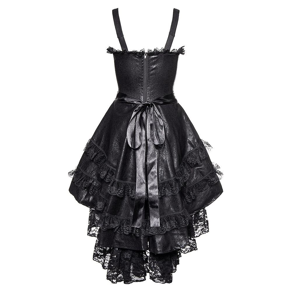 Golden Steampunk Eliza & Lace Dress (Black)