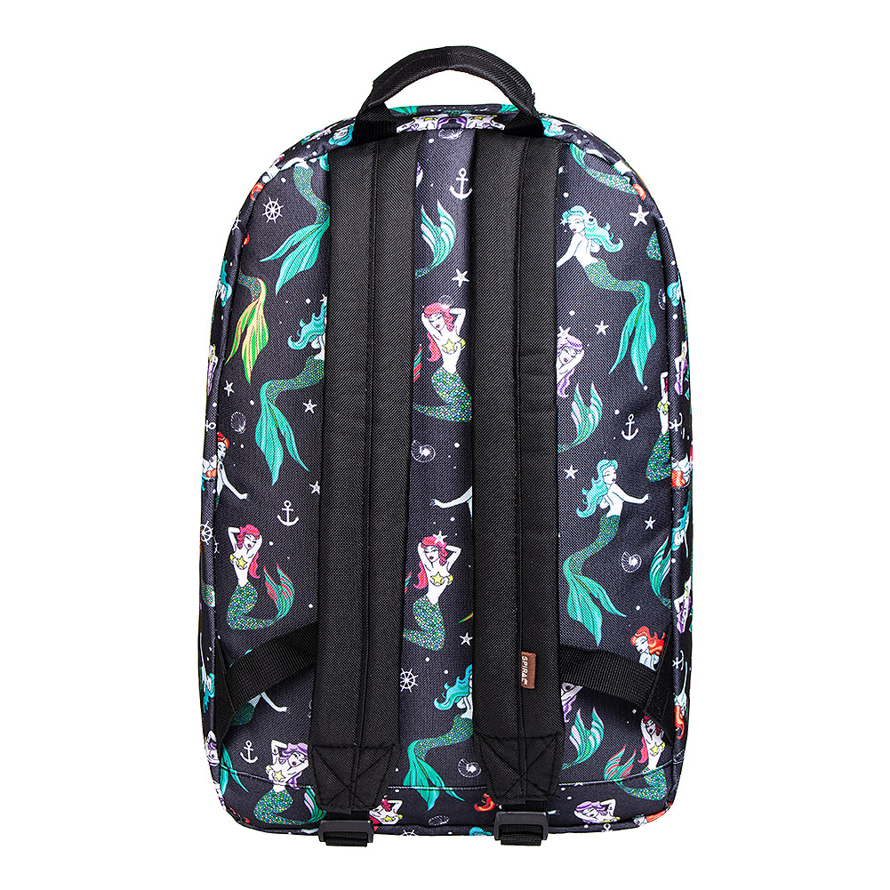Spiral Mermaid Backpack (Black)