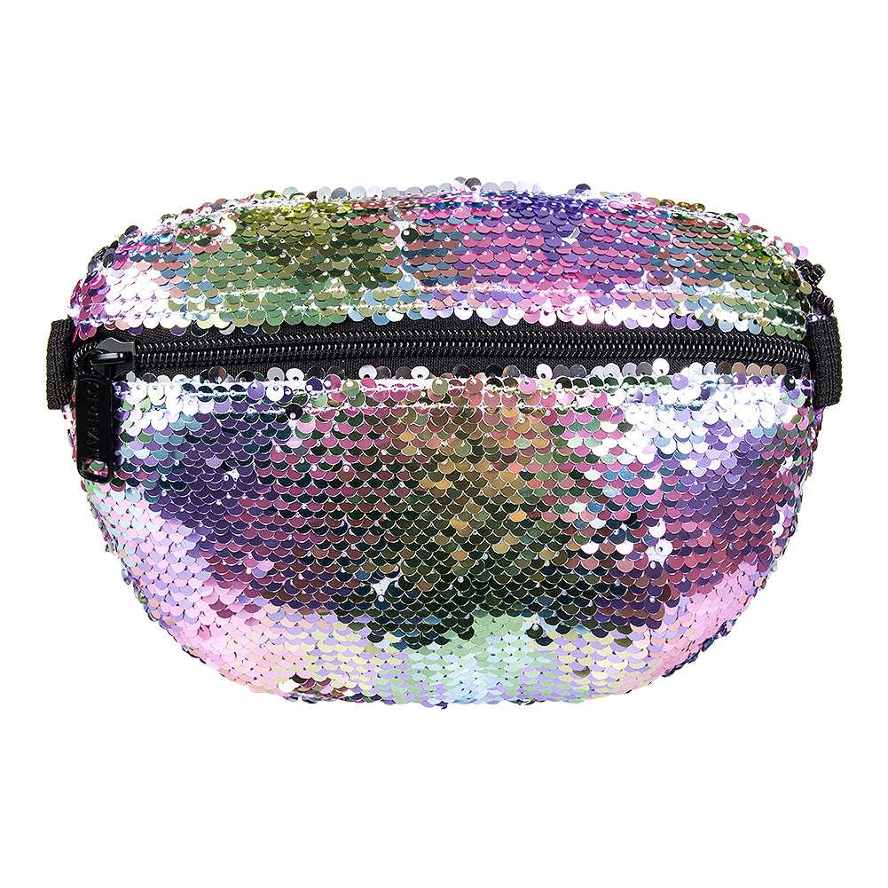 Spiral Rainbow Sequins Bum Bag (Multicoloured)