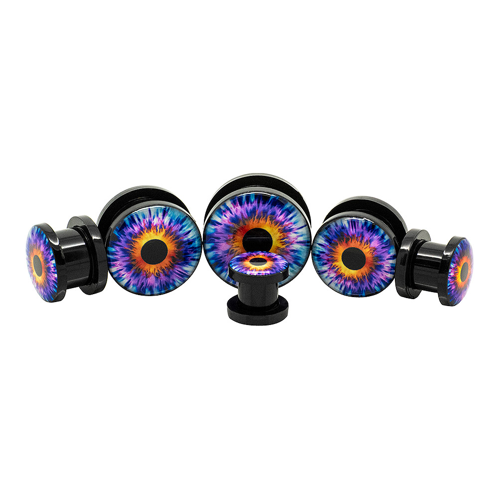 Blue Banana Eye Ear Acrylic Plug 8 - 18mm (Purple)