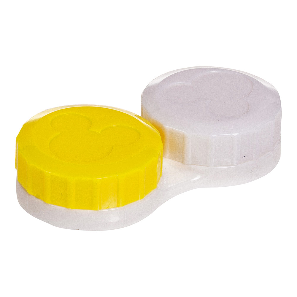 Coloured Contacts Lolly Contact Lens Case & Kit (Yellow)