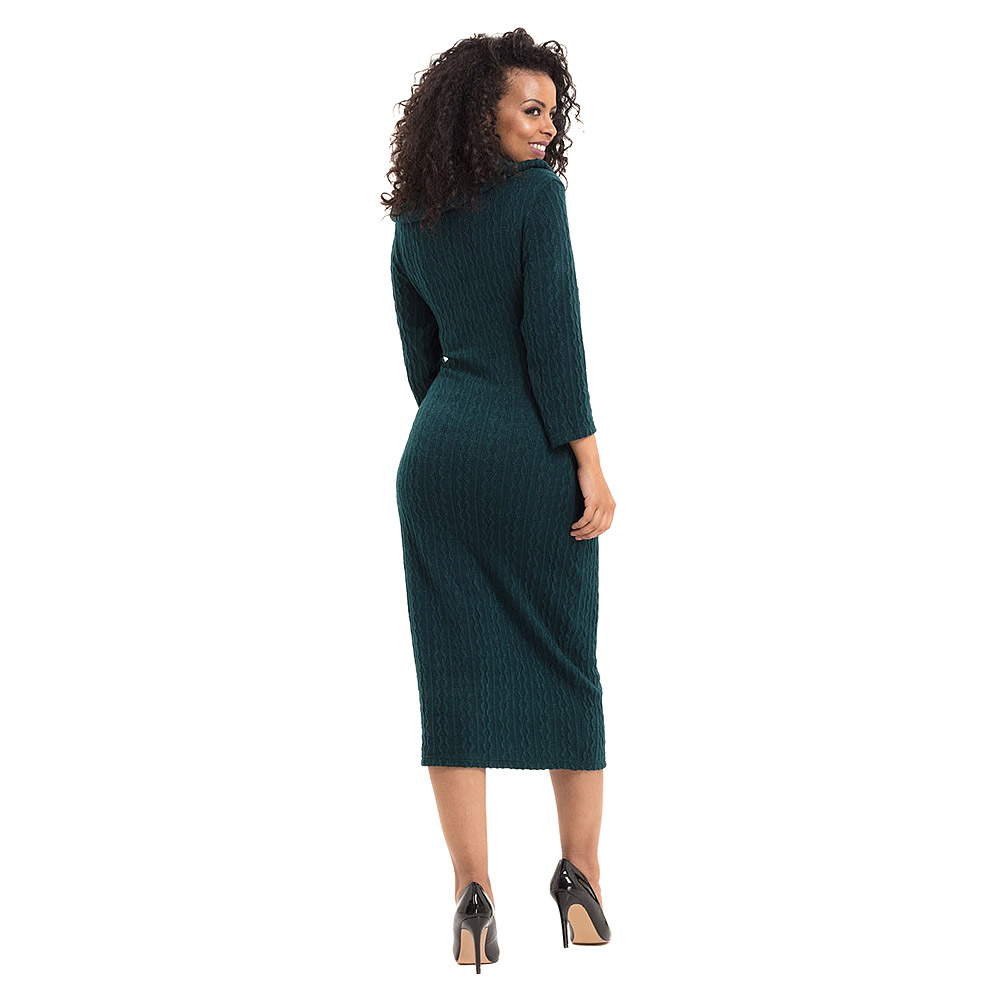 Voodoo Vixen Olivia Knit Fitted Dress (Green)