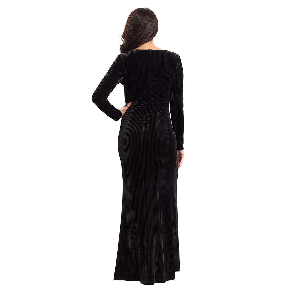 Voodoo Vixen Morticia Gown Dress (Black)