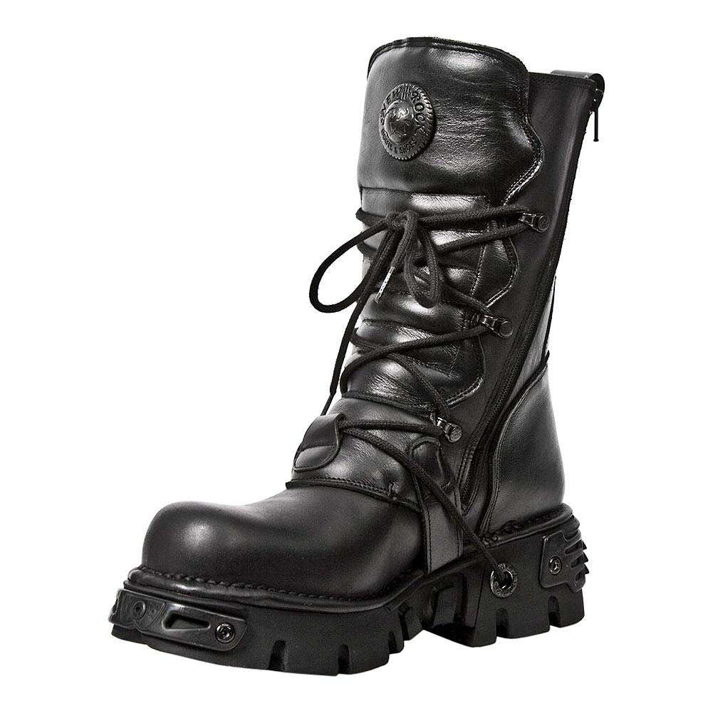 New Rock M.373-S18 Reactor Calf Boots (Black)