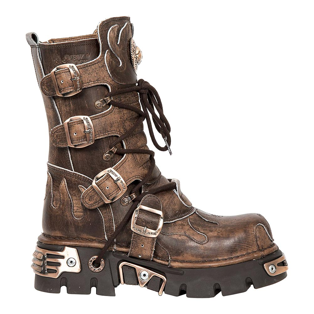 New Rock M.591-S8 Reactor Flame Calf Boots (Brown)