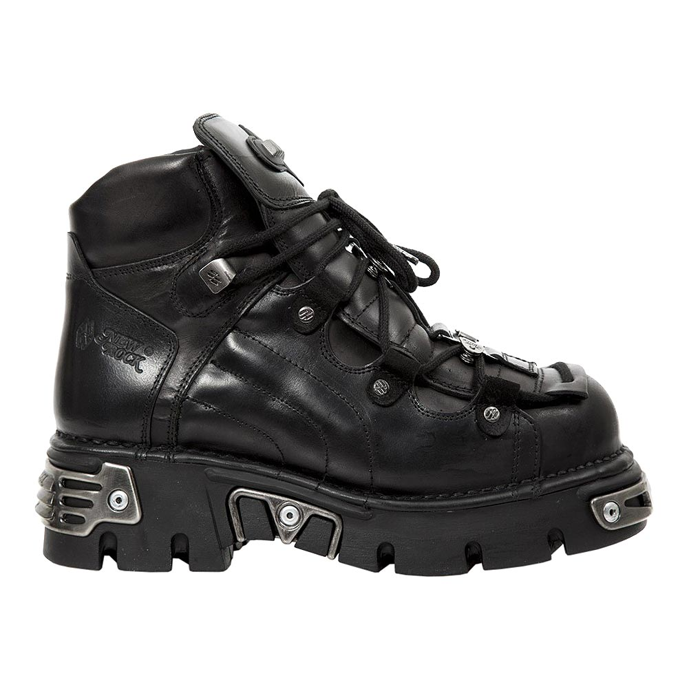 New Rock M.756-S2 Reactor Ankle Boots (Black)