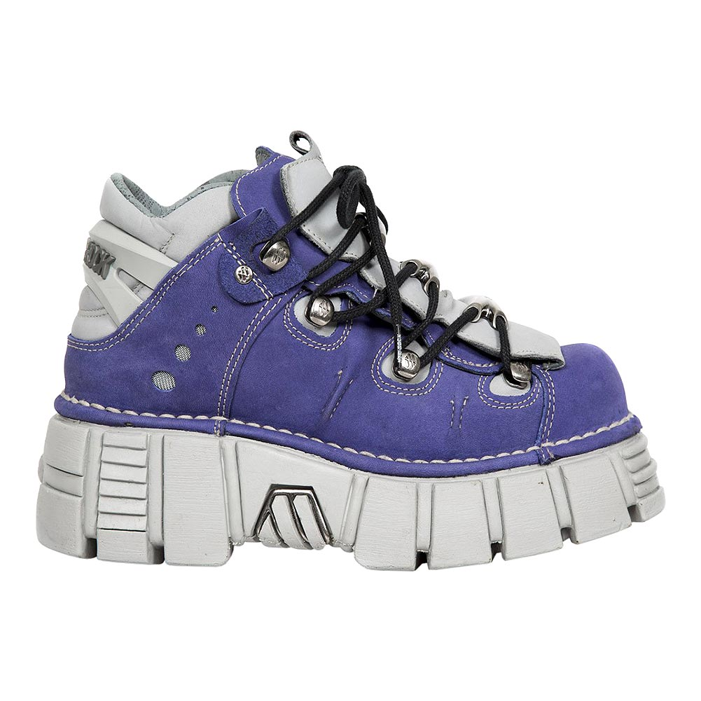 New Rock M.106-S19 Tower Platform Shoes (Purple/Grey)