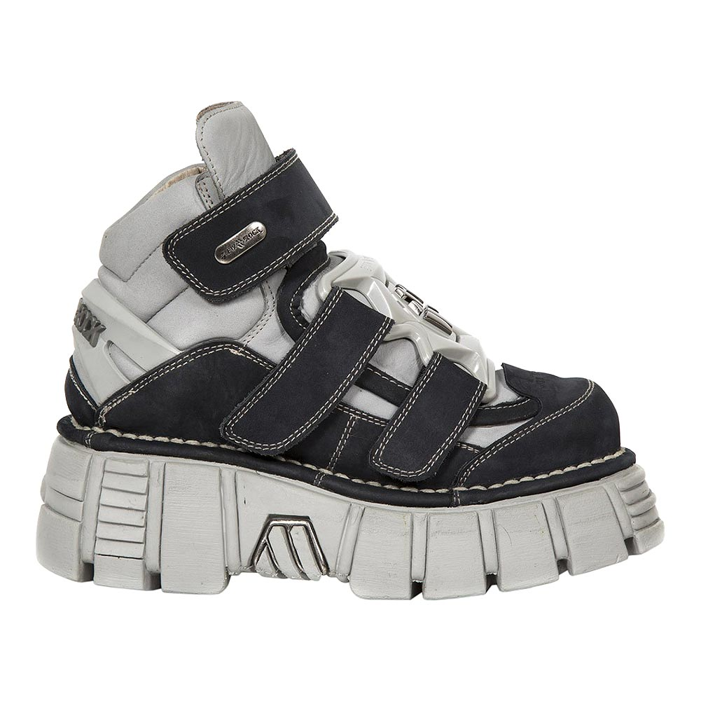 New Rock M.285-S23 Tower Platform Shoes (Black/Grey)