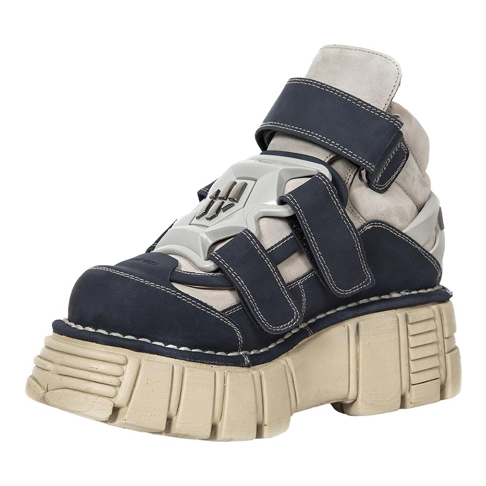 New Rock M.285-S21 Tower Platform Shoes (White/Blue)