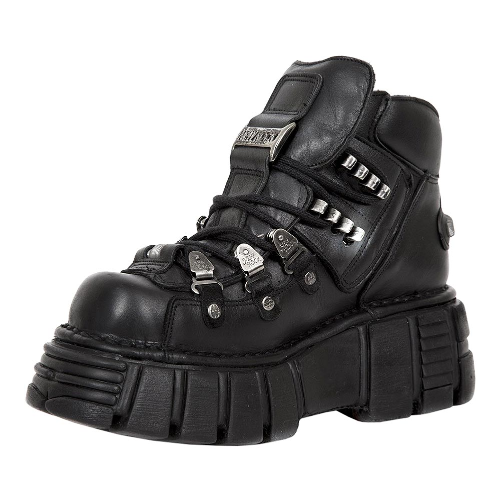 New Rock M.220-S2 Tower Platform Shoes (Black)