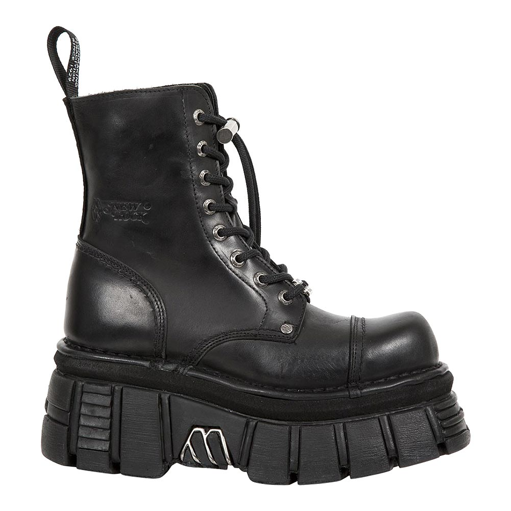 New Rock M.NEWMILI083-S21 Tower Platform Boots (Black)
