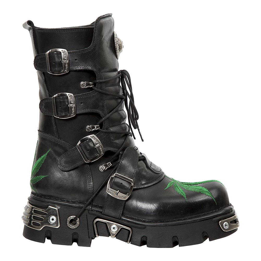 New Rock M.373HOJAS-S1 Reactor Leaf Calf Boots (Black)