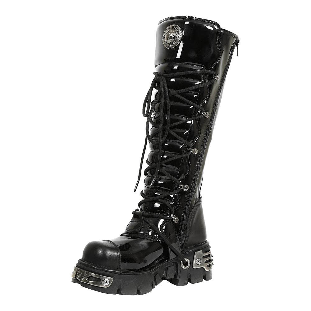 New Rock M.314-S6 Reactor Knee High Boots (Black)