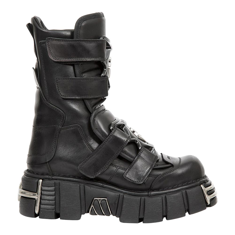 New Rock M.422-S1 Tower Half Boots (Black)