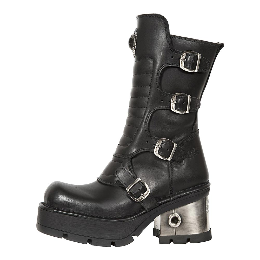 New Rock M.373QX-S3 M8 Calf Boots (Black)