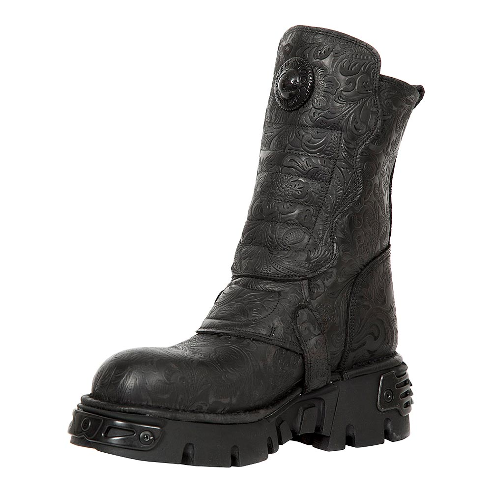New Rock M.373X-S25 Wild Reactor Vintage Half Boots (Black)