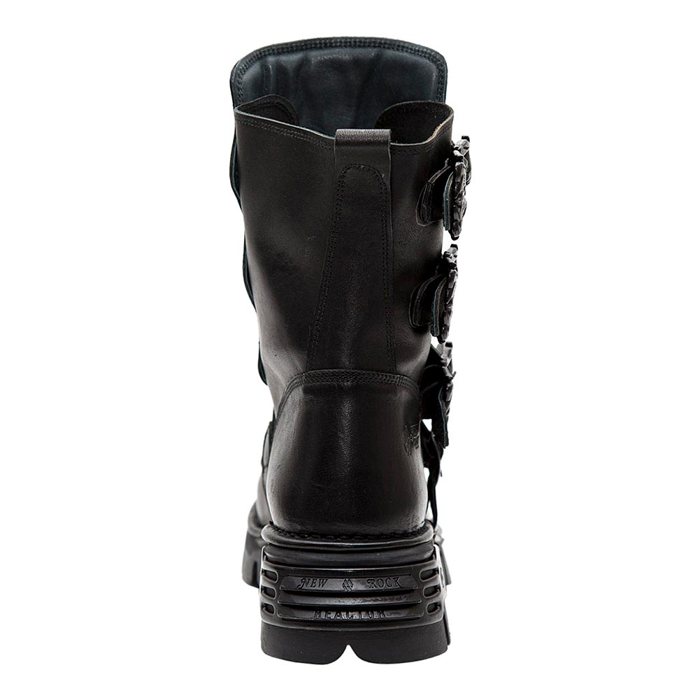 New Rock M.391X-S2 Reactor Wild Half Boots (Black)