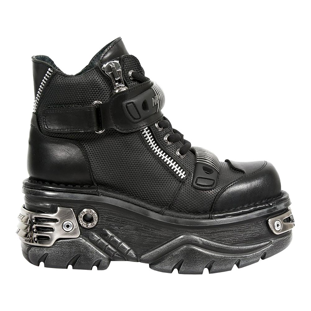 New Rock M.1065-S1 Turbo Platform Boots (Black)