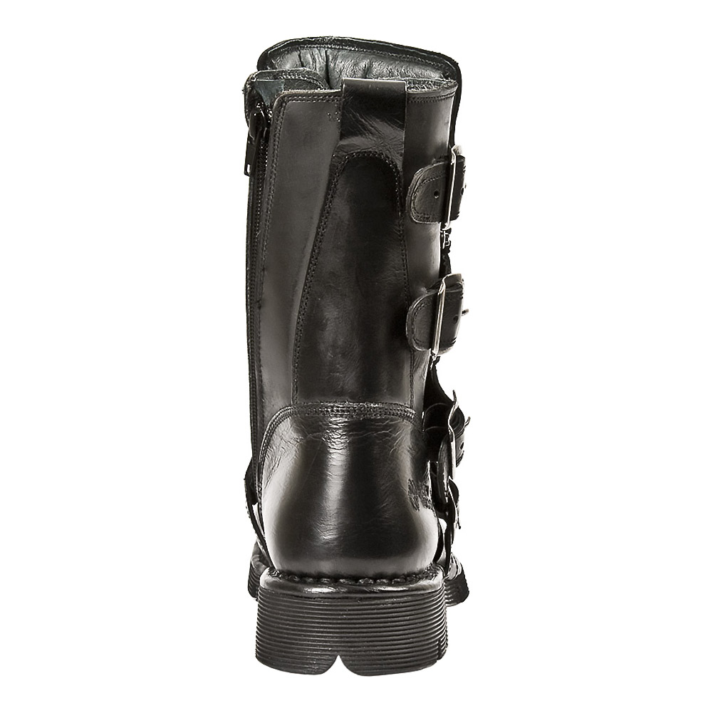 New Rock M.1473-S1 Comfort-Light Half Boots (Black)
