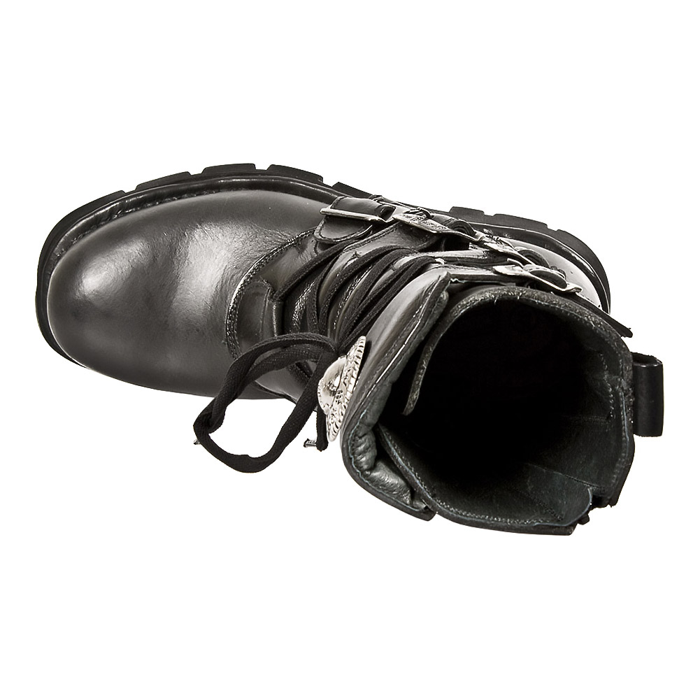 New Rock M.1473-S1 Comfort-Light Stiefeletten (Schwarz)