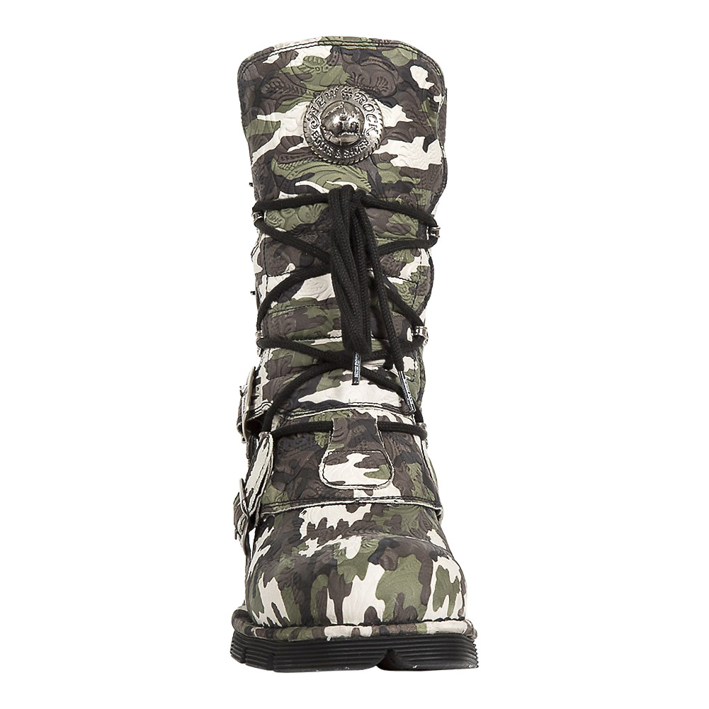 New Rock M.1473-S36 Comfort-Light Camouflage Half Boots (Multicoloured)