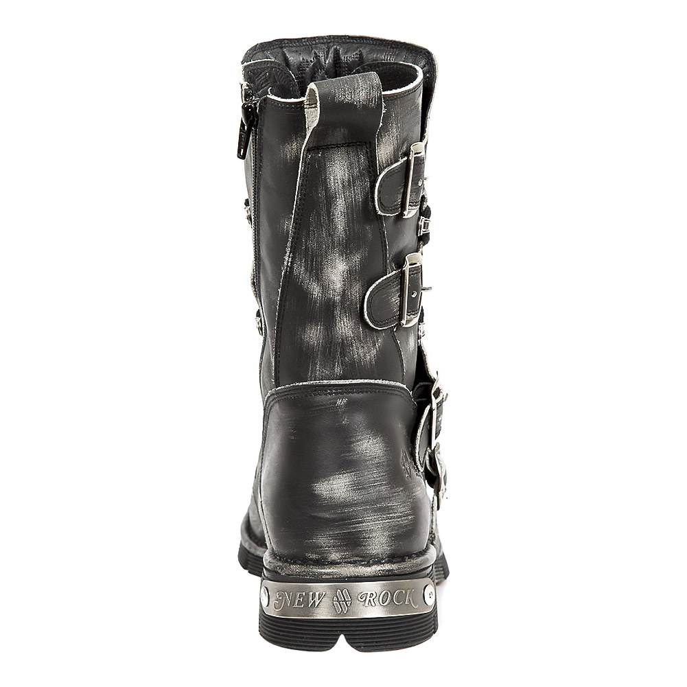 New Rock M.1473-S47 Comfort-Light Half Boots (Grey)