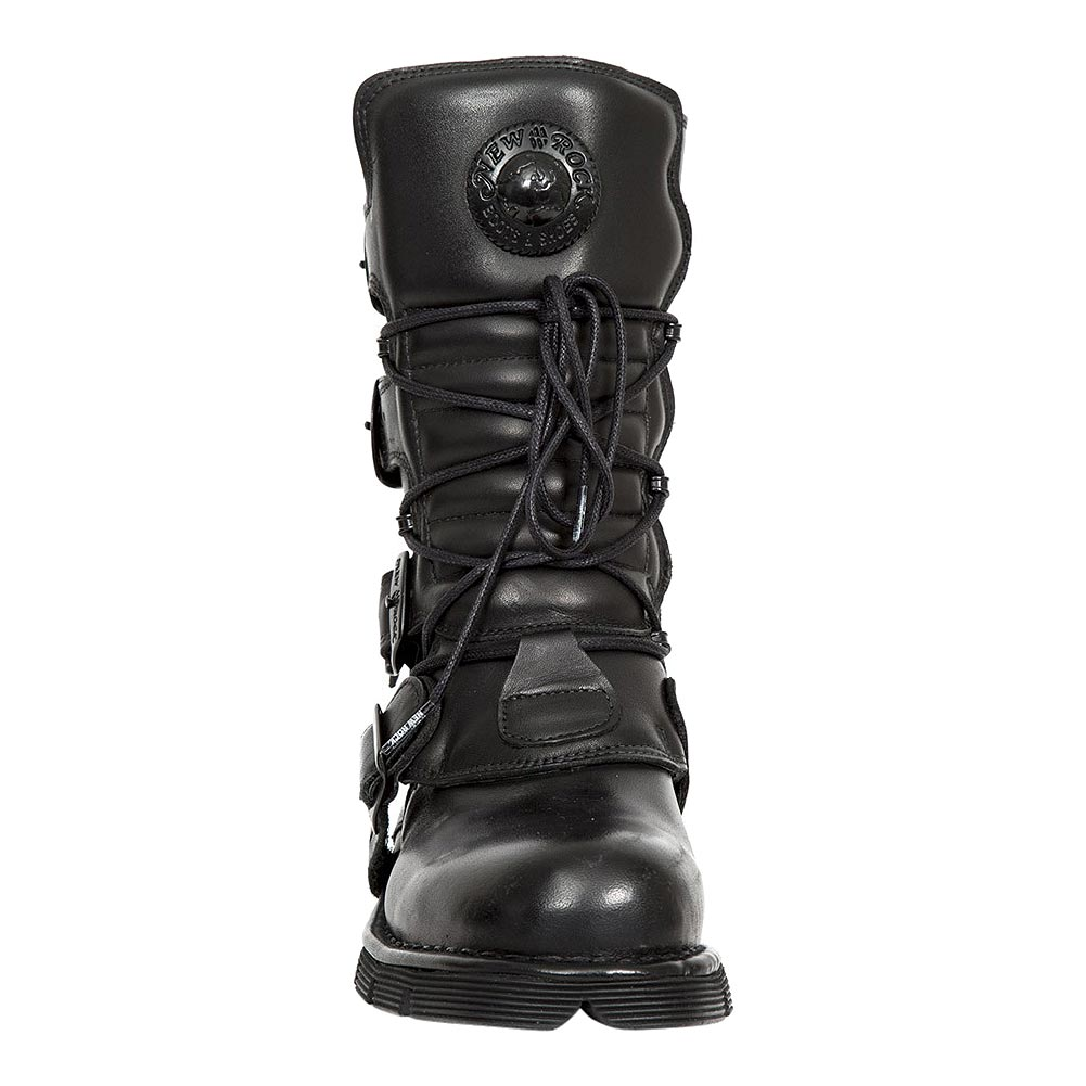 New Rock M.1473-S49 Comfort-Light Wadenstiefel (Schwarz)