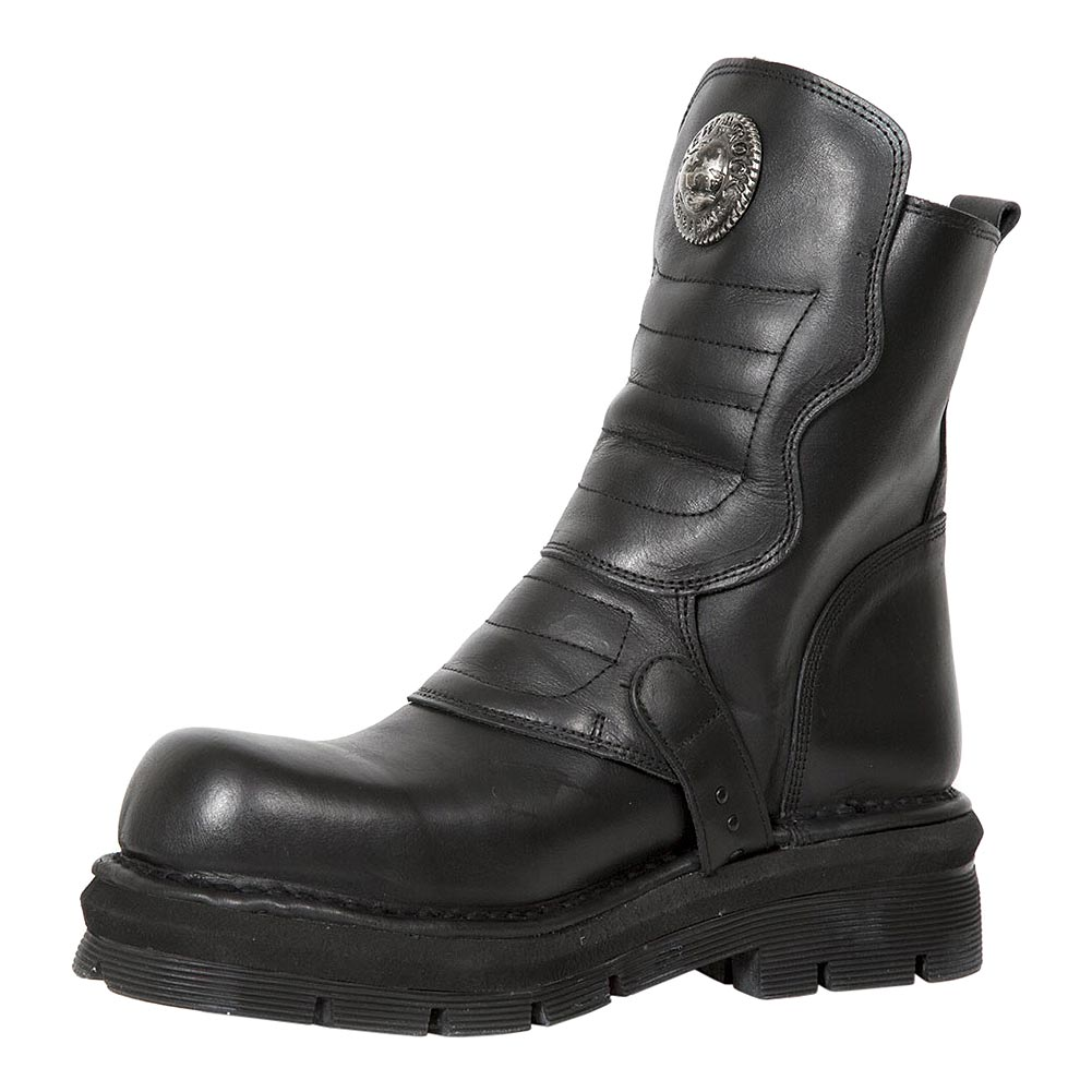 New Rock M.1482X-S4 Comfort-Light Nomada Half Boots (Black)