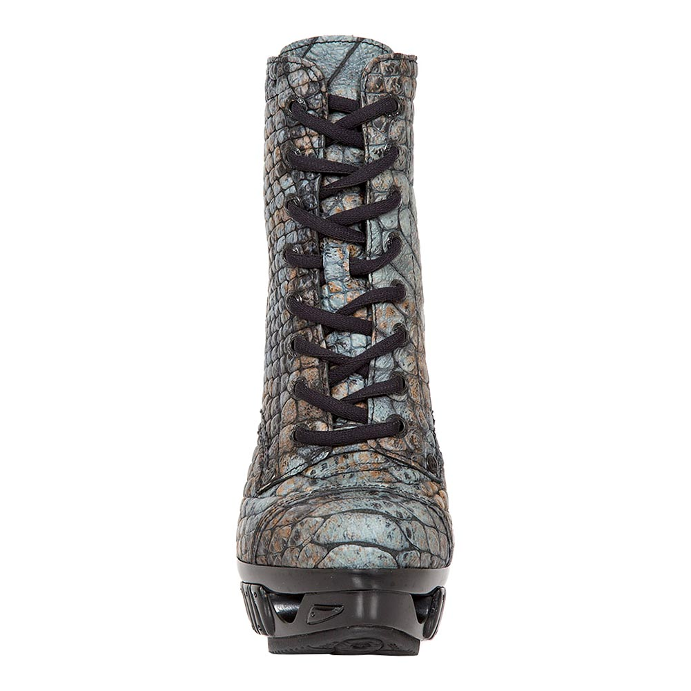 New Rock M.MAG016X-S2 Magneto Cobra Ankle Boots (Blue)