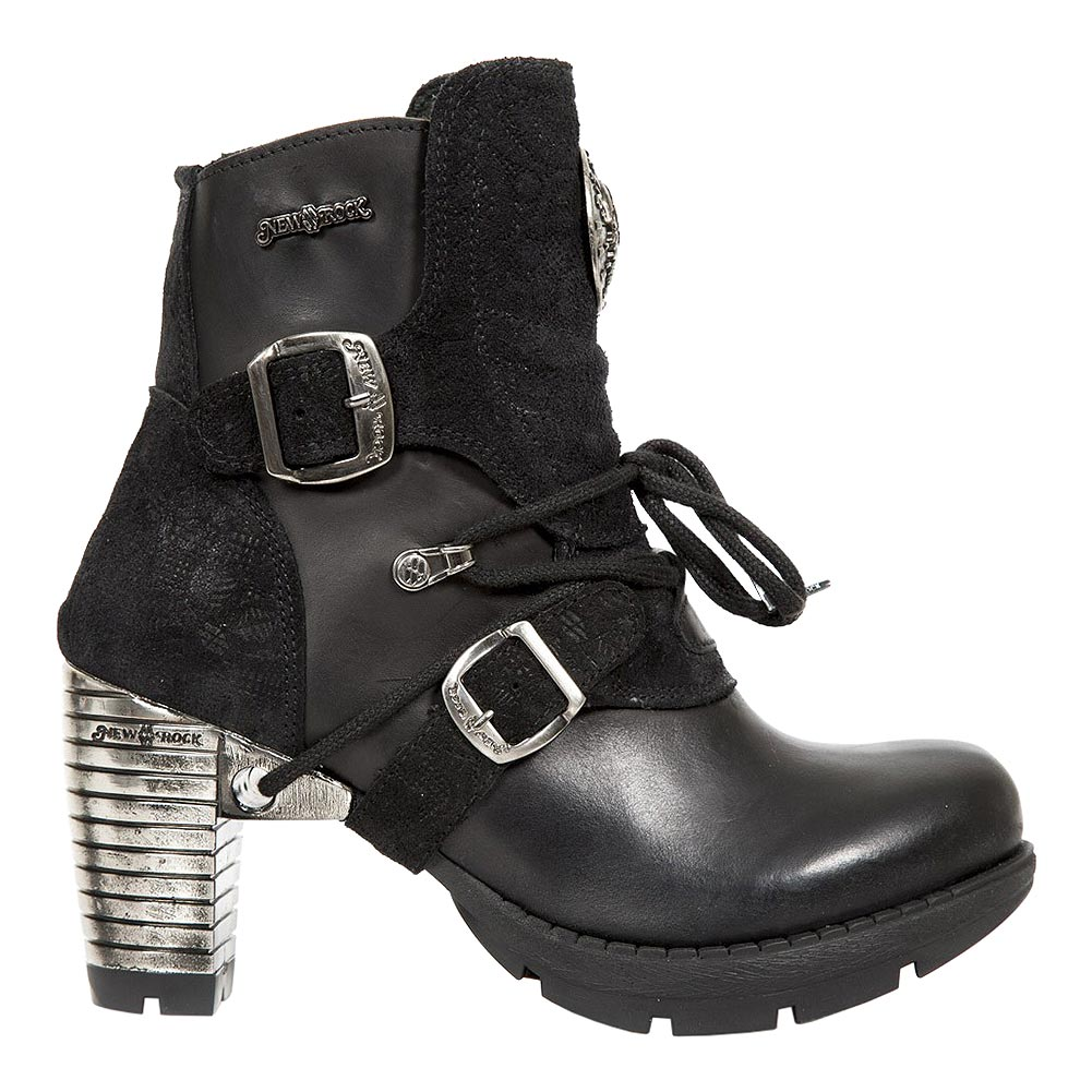 New Rock M.TR061-S4 Trail Heeled Boots (Black)