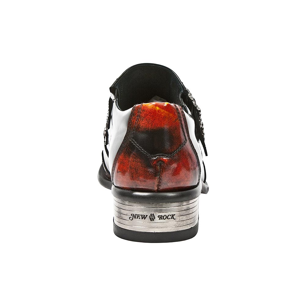 New Rock M.2358-S2 Newman Flame Shoes (Black/Red)