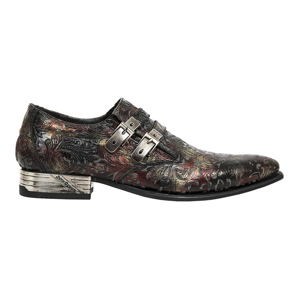 New Rock M.2246-S28 Newman Flower Shoes (Red)
