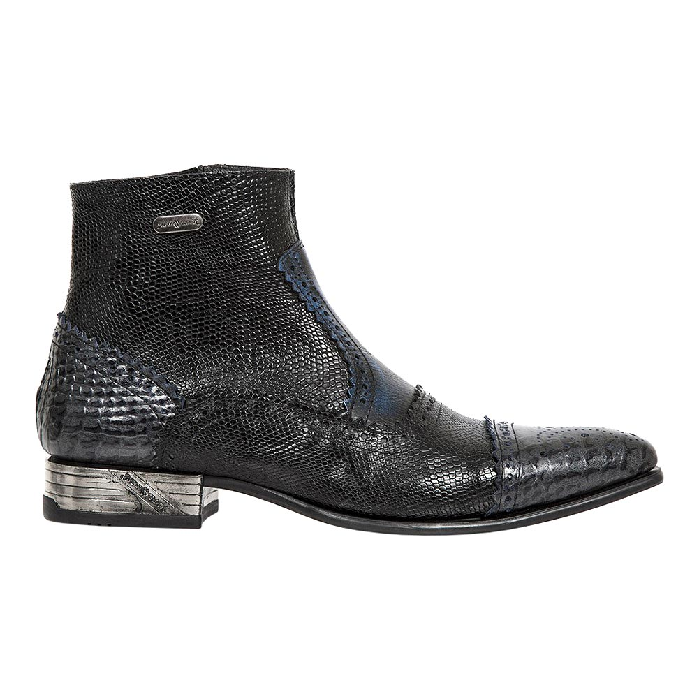 New Rock M.NW133-S5 VIP Ankle Boots (Black/Blue)