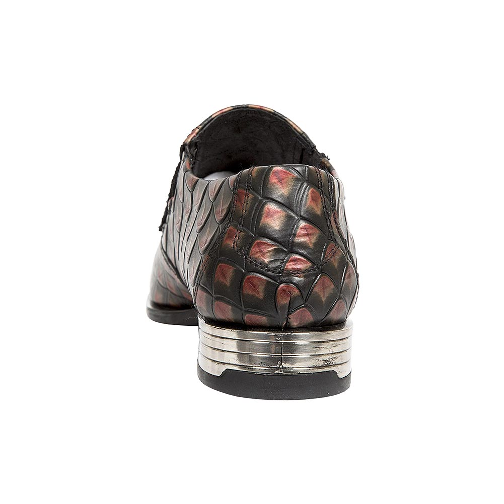 New Rock M.2288-S12 Newman Armour Shoes (Black/Red)
