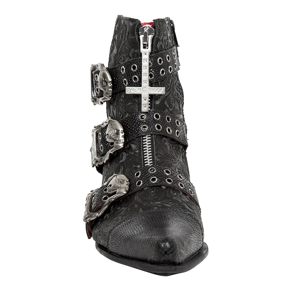 New Rock M.WST062-S1 Dallas Snake Vintage Boots (Black)