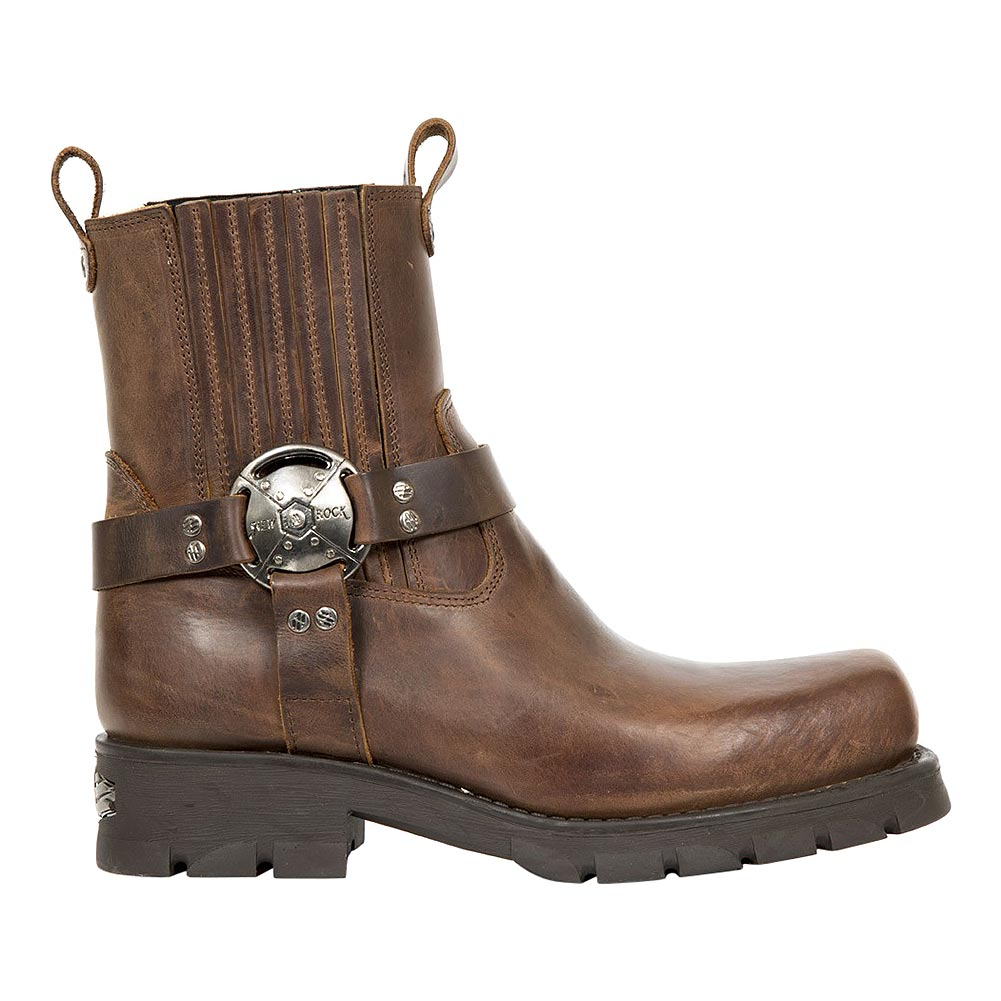 New Rock M.7605-S20 Motorcycle Schlupfstiefel (Braun)