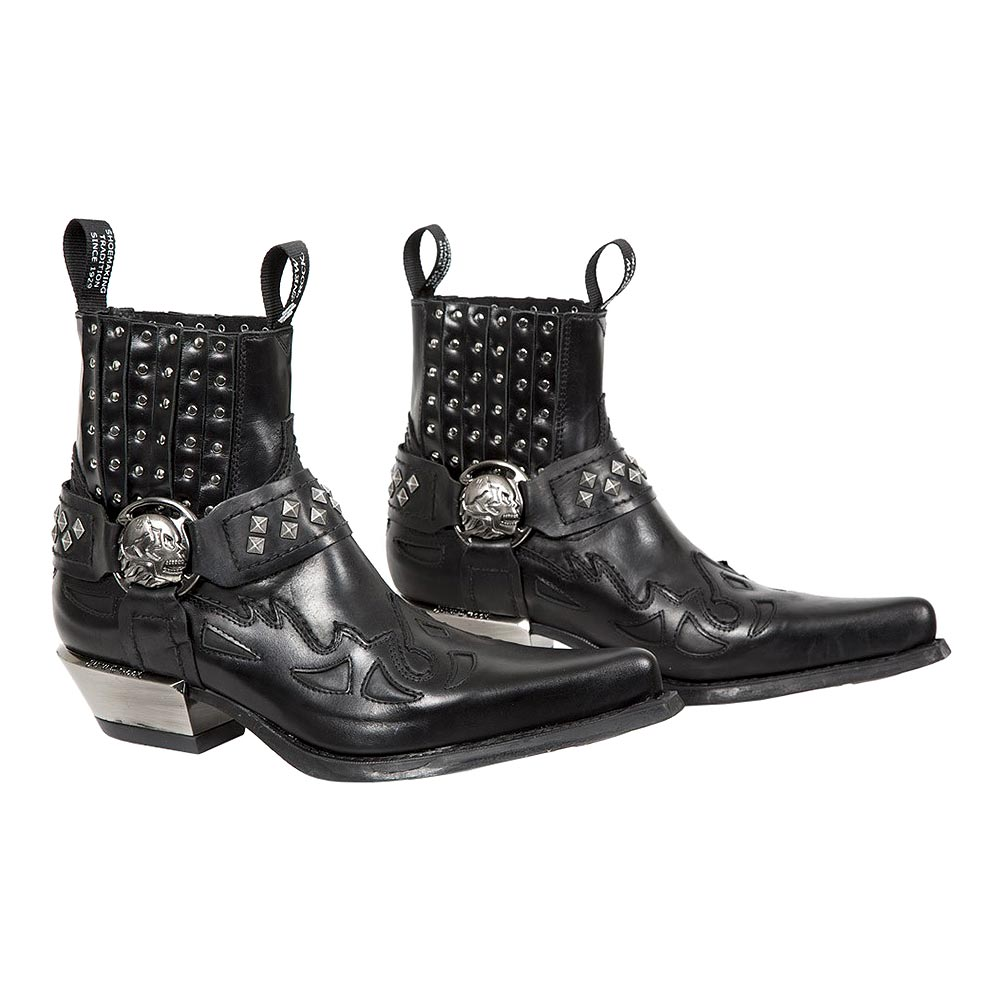 New Rock M.7950-S9 West Flame Boots (Black)