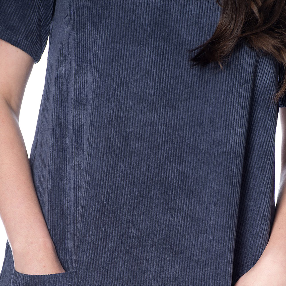 Banned 60s Cord Dress (Navy)