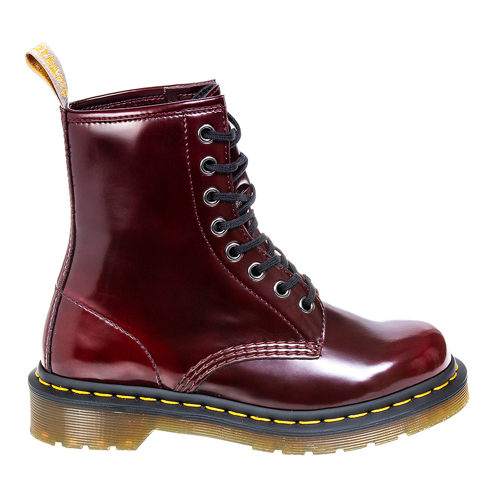 Dr Martens 1460 Cambridge Brush Vegan Boots (Cherry Red)