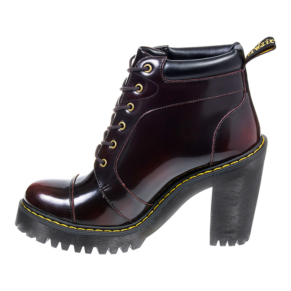 Dr Martens Averil Arcadia Boots (Cherry Red)