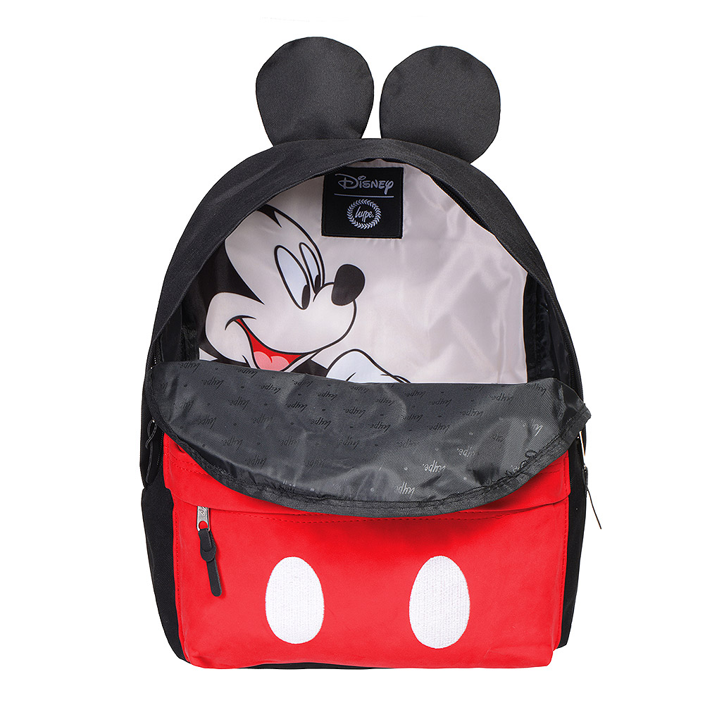 Hype Disney Mickey Mouse Backpack (Black/Red)