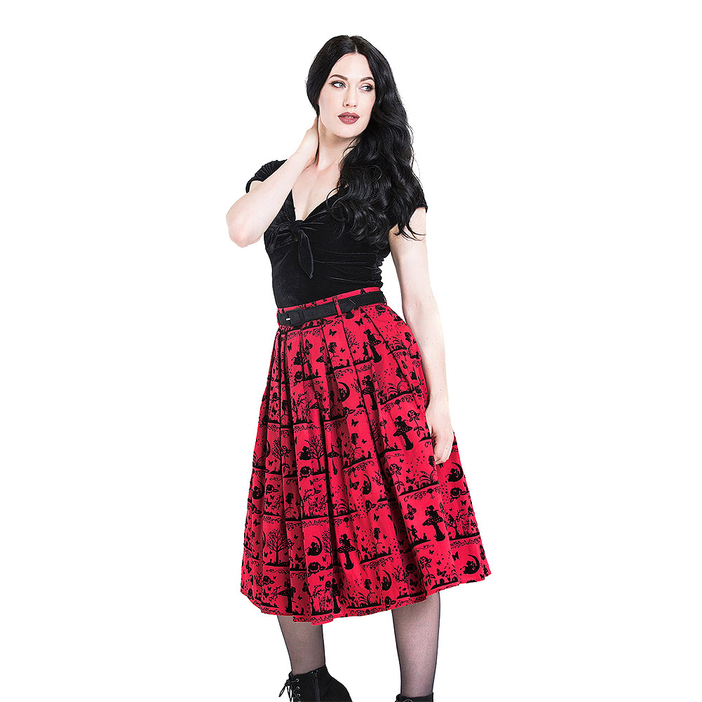 Hell Bunny Anderson 50s Skirt (Red)