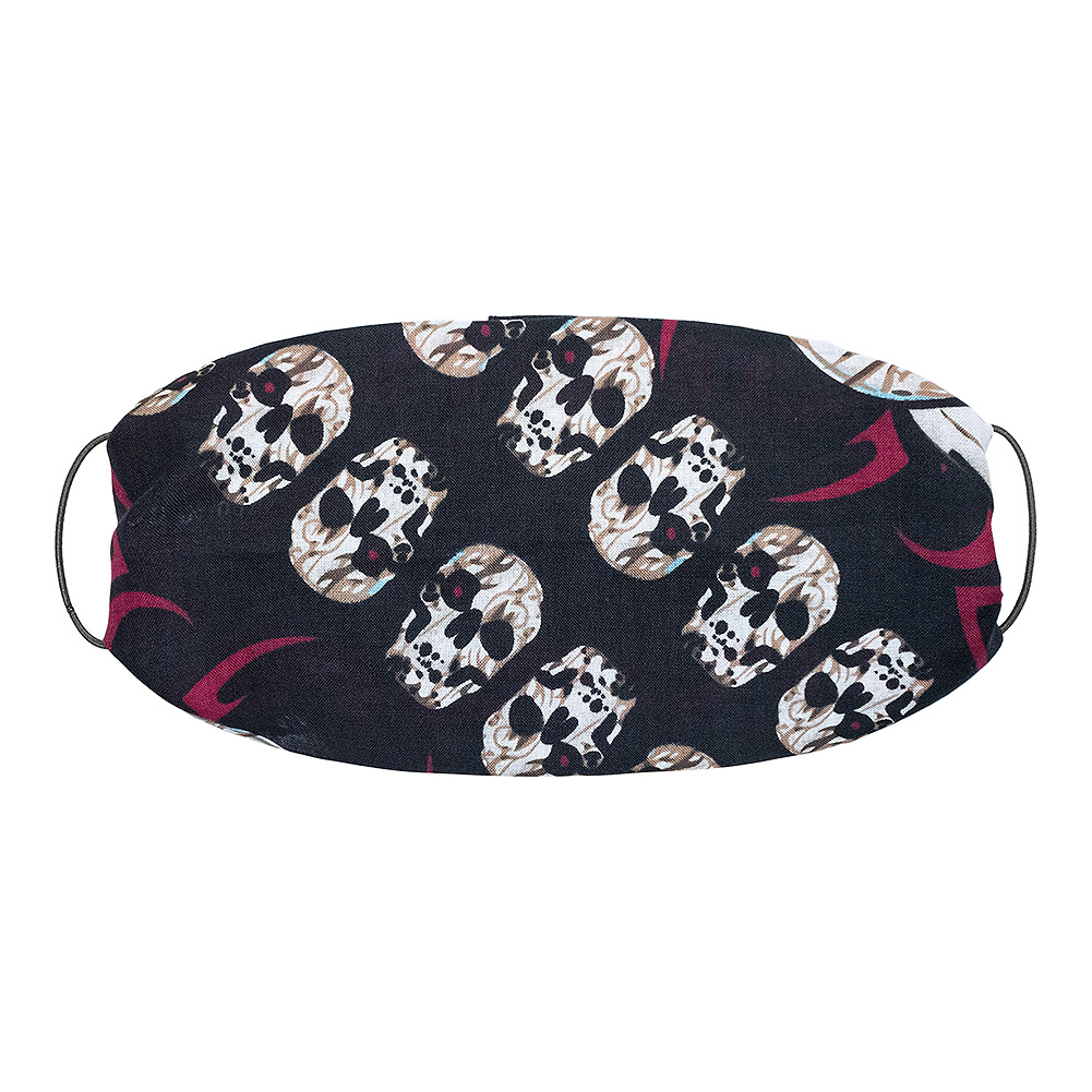 Blue Banana Red Eye Skull Bandana (Black)