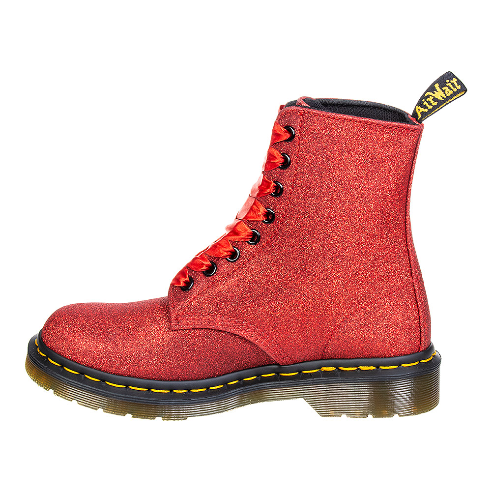 Dr Martens 1460 Pascal Glitter Boots (Red)